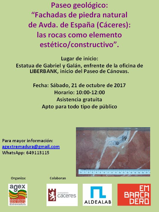 PASEO GEOLOGICO CACERES 2017